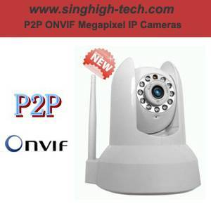 P2p Onvif 1.0MP 720p WiFi PTZ IP Camera (NSH3031)