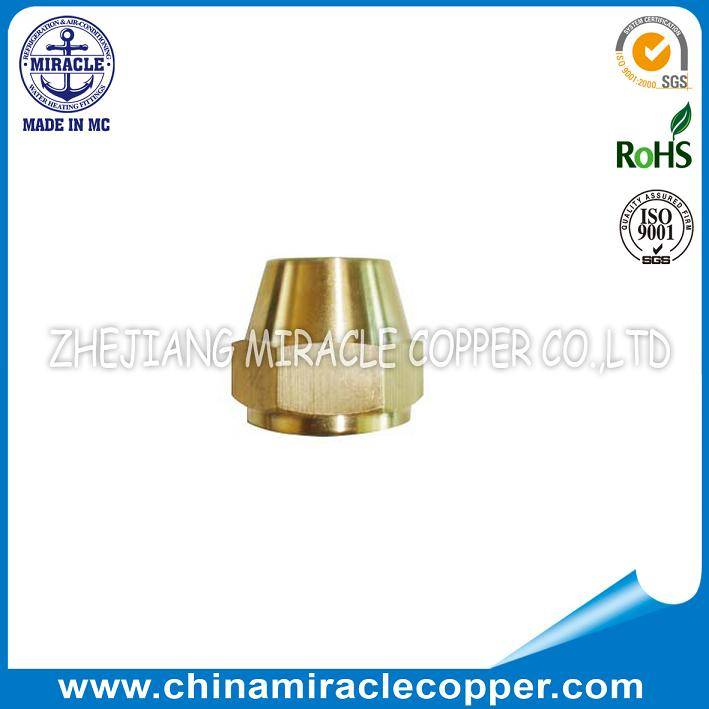 Refrigeration Parts Brass Fitting Brass Long Nut