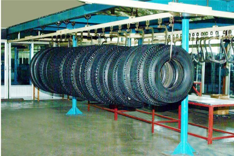 Rail system - waste tire retreading