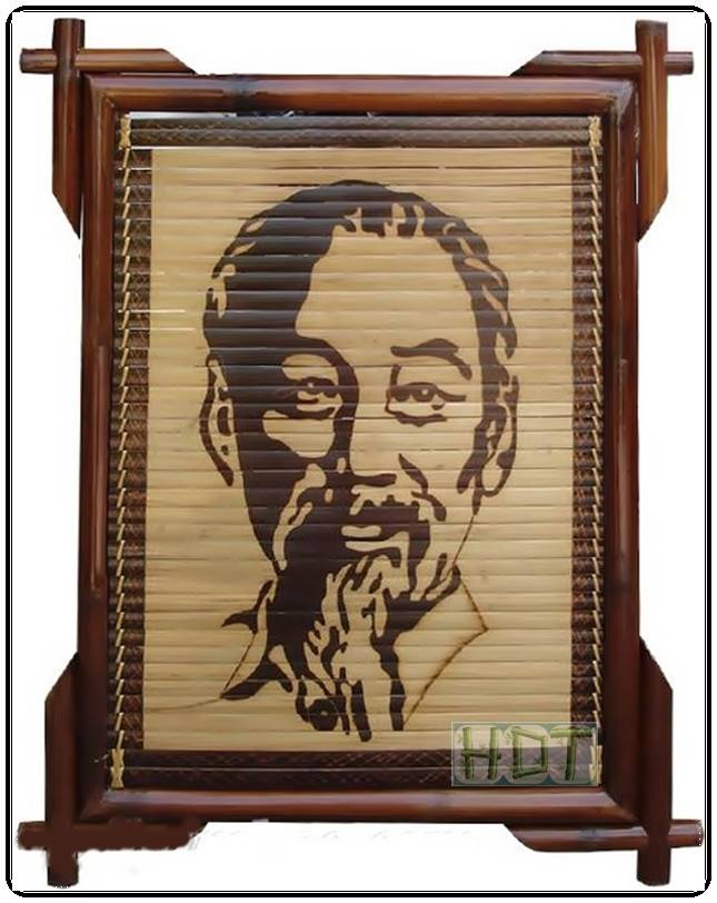 Shaving Smoked Bamboo Painting Portraits (Ho Chi Minh Artwork)_ This Is Not Painted