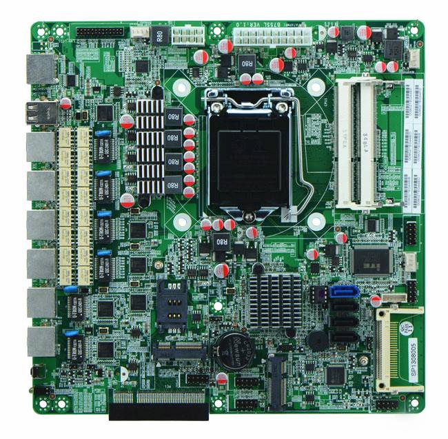 Intel Gen3 B75 Based Firewall Motherboard for Network Security Application 6 Nic 2 SFP Option Bypass