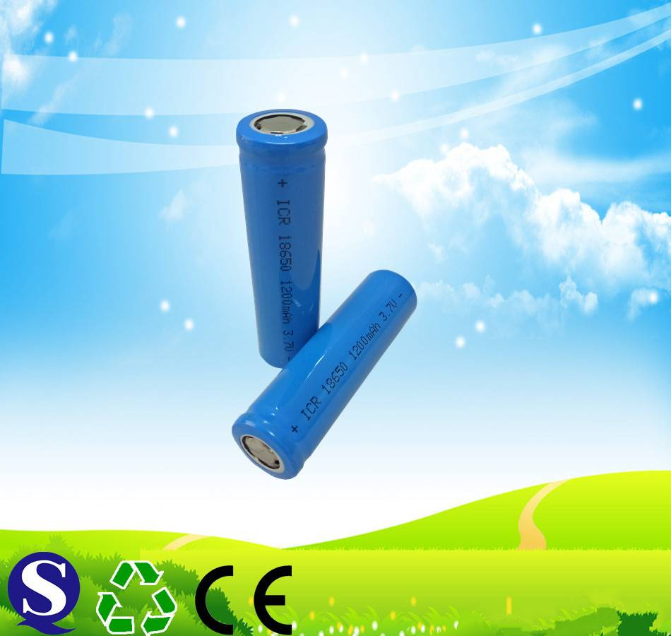 Rechargeable li-ion 18650 lithium ion battery for torch emergency light
