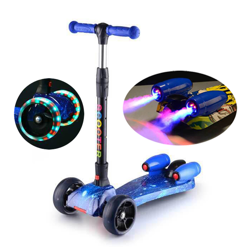 high quality jet fog kick scooter with music