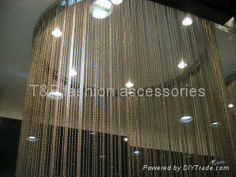 metal string chain curtain