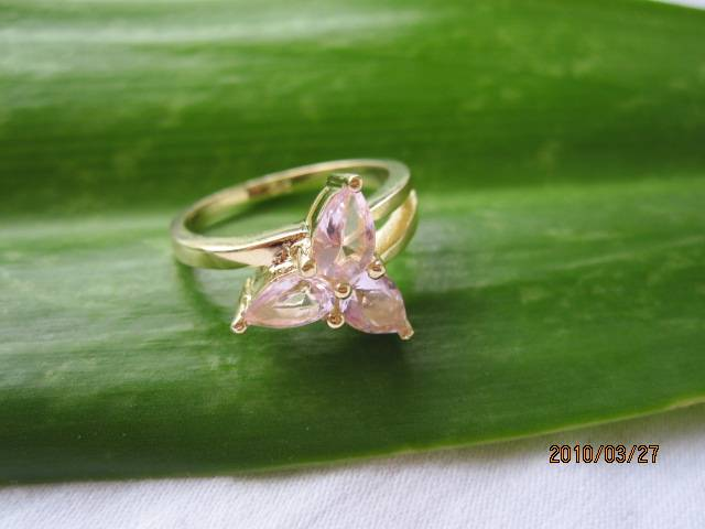pink cubic zirconia silver ring,925 silver jewelry, gemstone ring