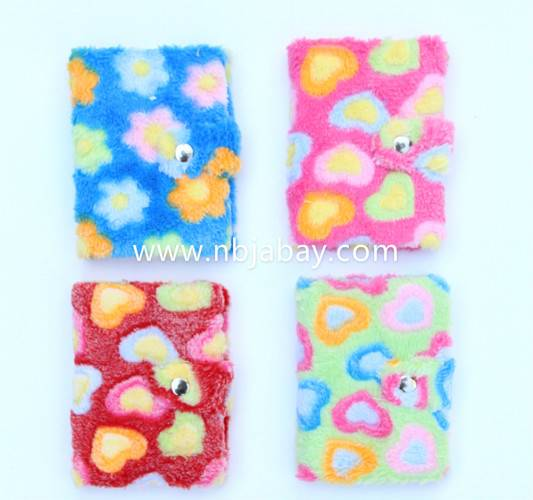 flower plush journals for tween girls
