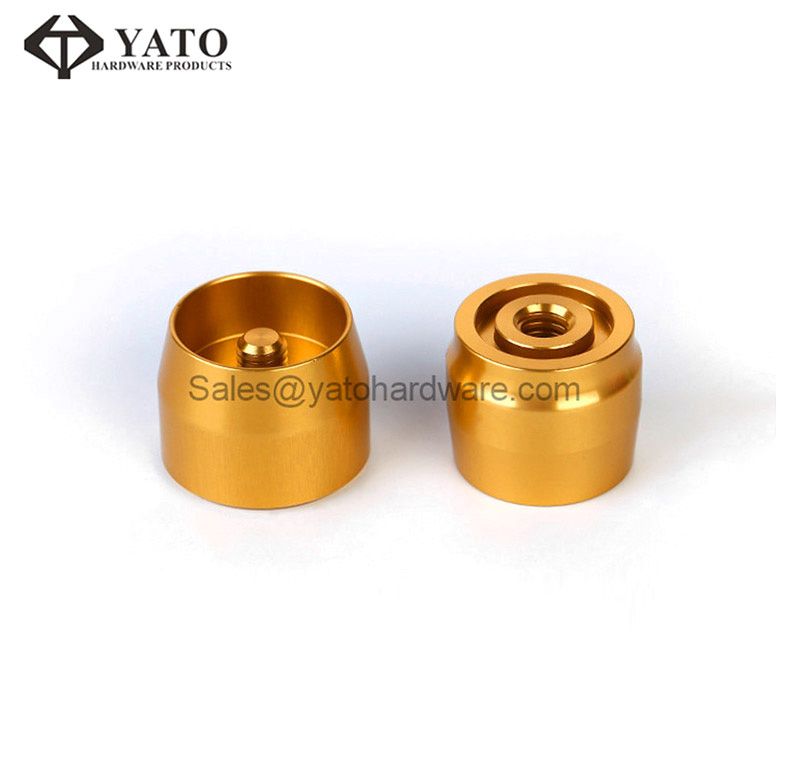 Machined Electronic Components with Gold Anodized