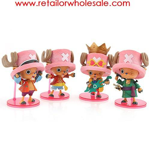Wholesale 4pcs One Piece Tony Tony Chopper Action Figure Toy