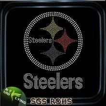 Wholesale Steelers hot fix rhinestone transfer motif