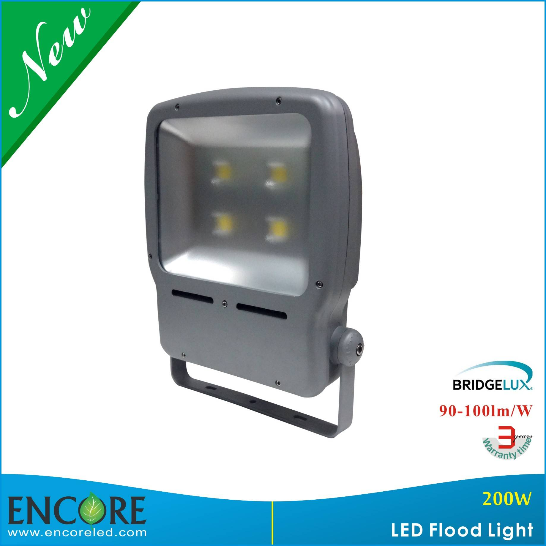 200watt Outdoor Lighting Led Flood Light with High Lumen Bridgelux COB LED and Meanwell Driver