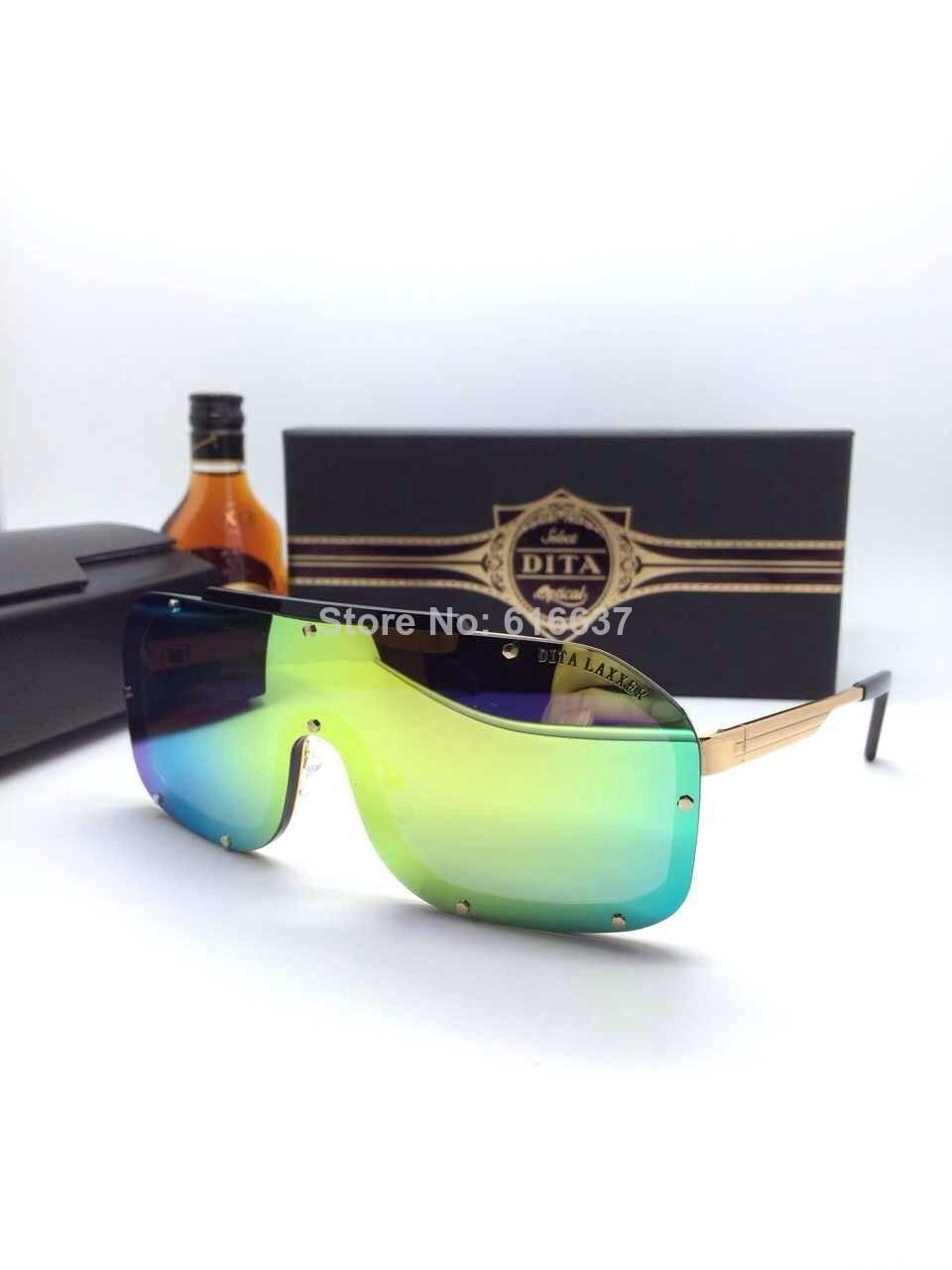 free shipping new arrive dita Iridescen mirror lense mask sunglasses wholesale
