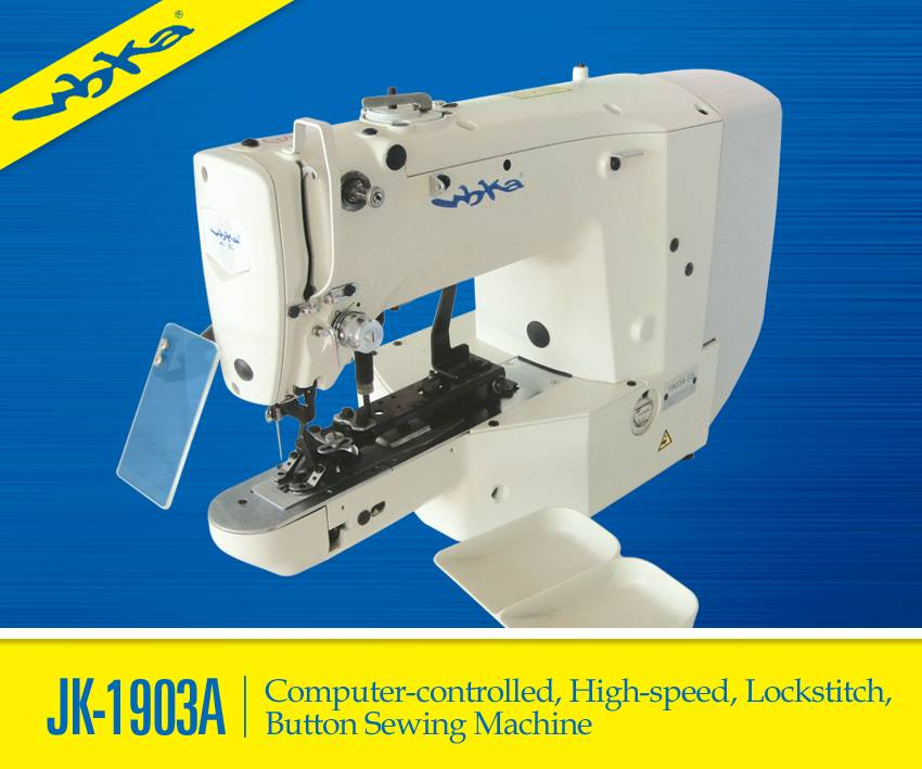 JK-1903A Easy-controlled Lockstitch Button Sewing Machine