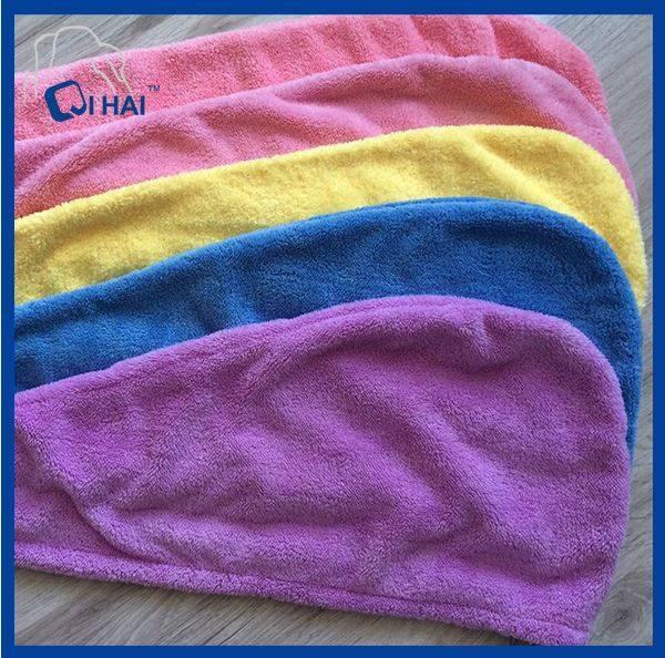 Microfiber Bath Cap, Dry Hair Cap (QHC12212)