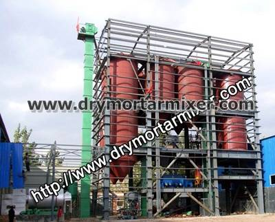 Dry cement mortar mix plant