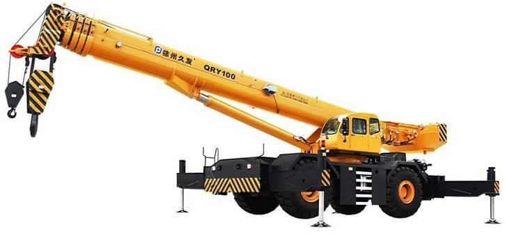 100ton rough terrain crane