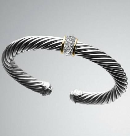 7mm Pave Diamond Cable Classics Bracelet