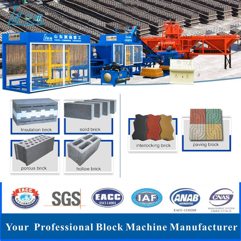 Fully Automatic Hydraulic Concrete Hollow Paving Brick Block Making Machine Production Line with CE