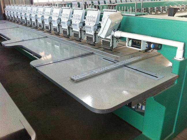 915 flat with cutting embroidery machine