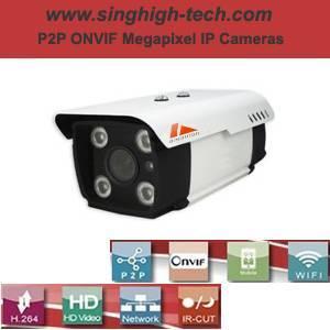 P2p Onvif 720p 1.0MP Waterproof IR IP Camera (NS6081)