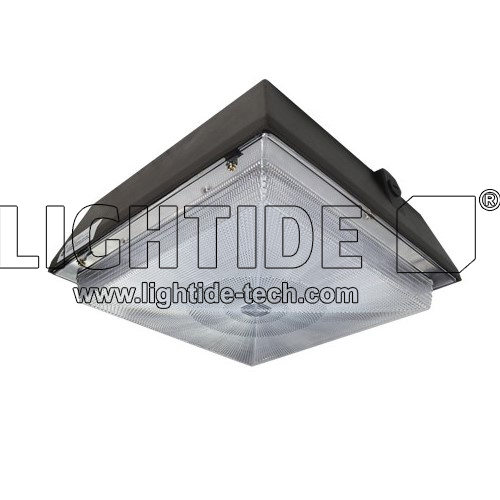 DLC Qualified LED Gas Station Lights, 60W, 200-480V AC, Replace 250W MH, 5 Years Warranty