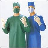 surgical gown bouffant cap face mask shoecover
