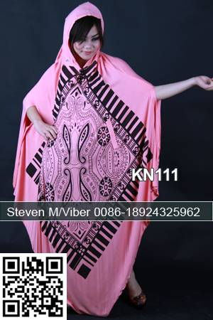 Latest Printed Pink Abayas Muslim Party Gowns Maxi Dress for Women