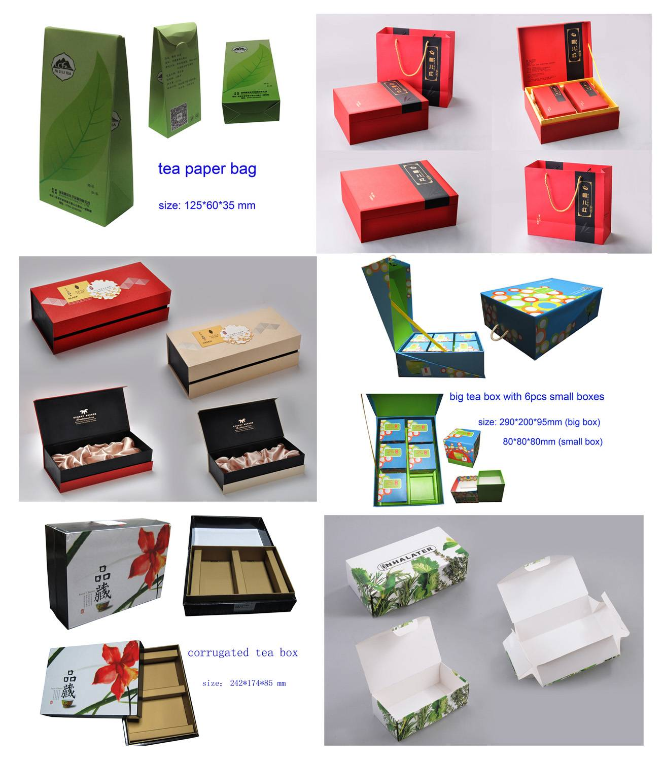 Paper Tea Packing Boxes