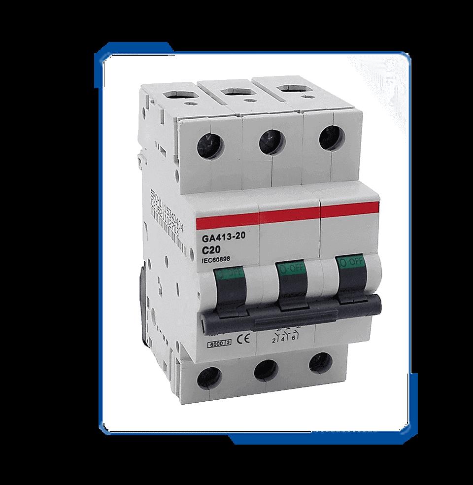 E93 C20 220V ac power electric mechanical circuit breaker