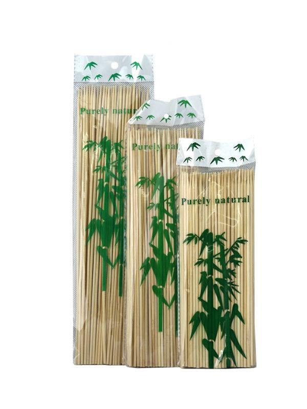 Bamboo Wooden Skewers Sticks BBQ Fruit Kebab Chocolate Fountain