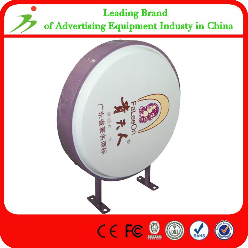 Round Advertising Aluminum Custom Vacuum Forming Light Box