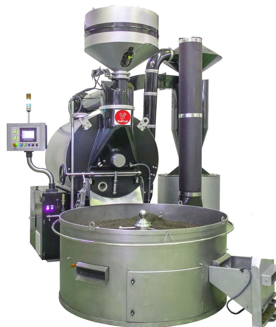 Industrial machine for coffee roasting 70 kg / cycle