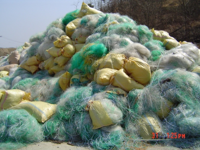 We buy waste scrap, plastic, HMS and nylon fishing net