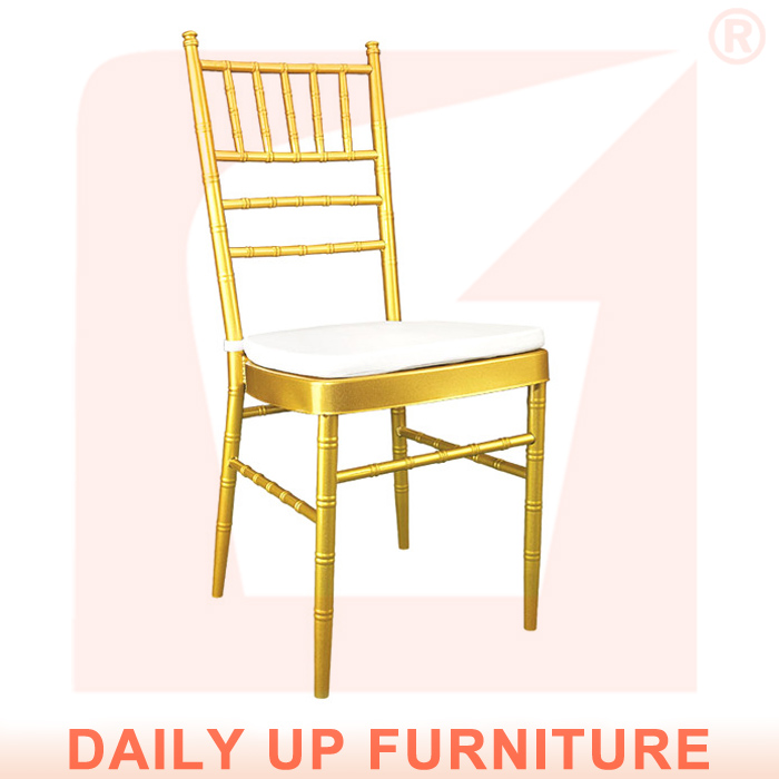 Sale Steel Tiffany Chair with Cushion Hotel Wedding and Event Tiffany Chairs with Pillow Silla Chiav