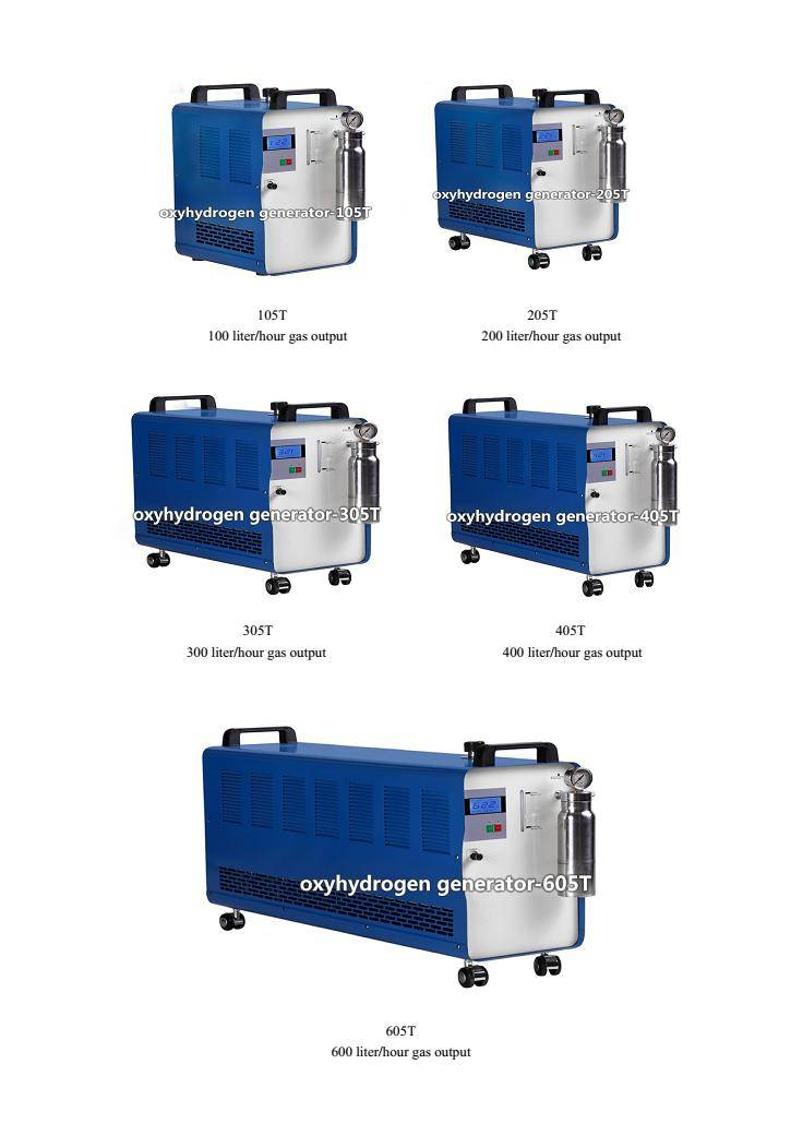 hydrogen oxygen gas generator with CE up to 600 liter/hour gas output