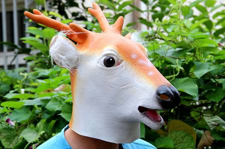 Youtumall Animal 2014 New Latex Sika Deer Head Mask
