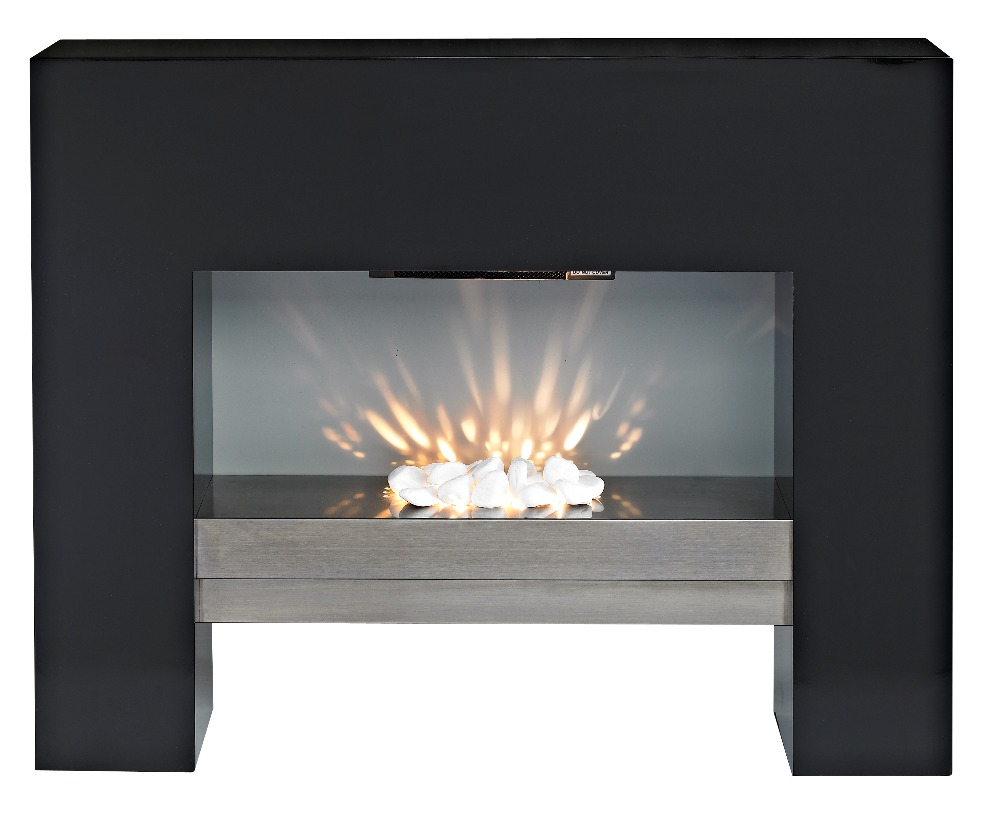 LED MDF Free Standing Electric Fireplace Heater LJSF4001