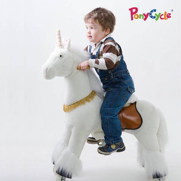 PonyCycle Kids Ride On Plush Horse Toy