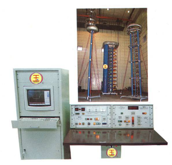 Lightning impulse voltage generator testing device