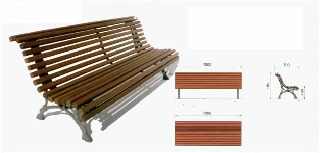 lighting poles & benches
