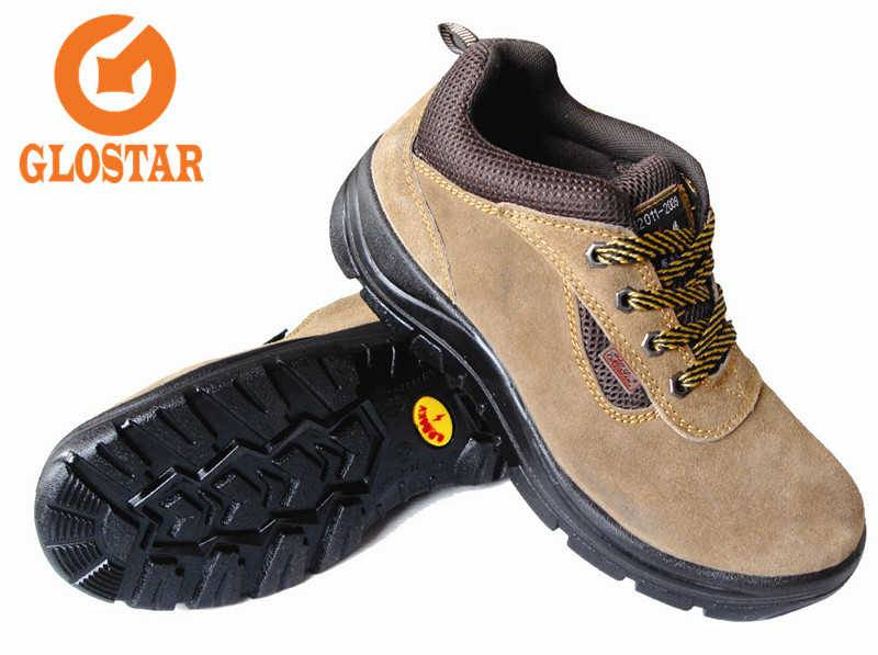 PU Injection-Suede Safety Shoes-CE certificate