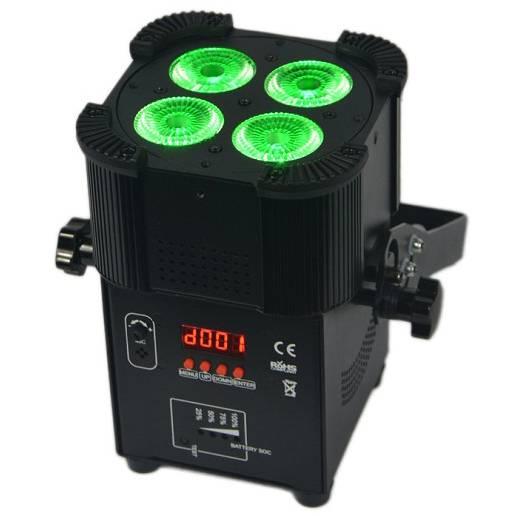 4X10W 5IN1 Battery Powered & Wireless DMX LED Par Light