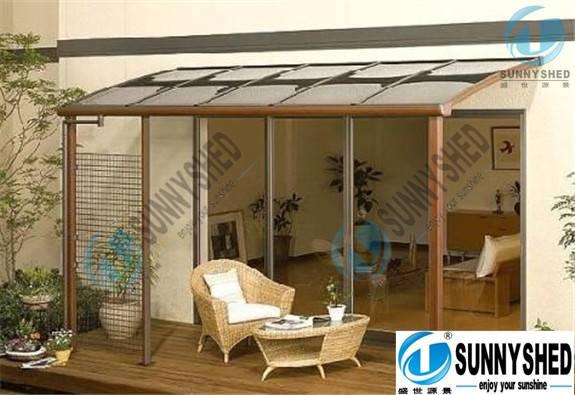 terrace/gazebo awning with aluminum frame