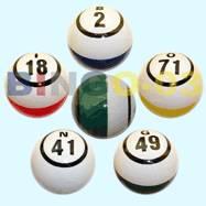 bingo ball, lotto ball, keno ball, ping pong ball, table tennis