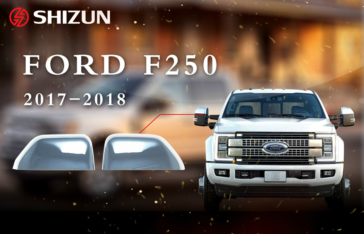2015-2018 FORD F-250 F250 SIDE MIRROR COVER PLASTIC CHROME