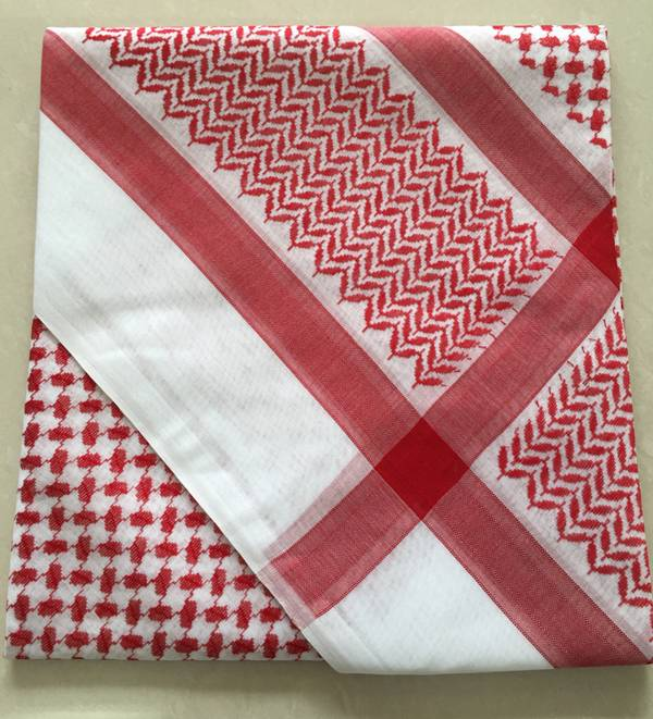 Red/White Traditional Arab yashmagh