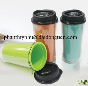 Plastic glass with 2 layer 2 color