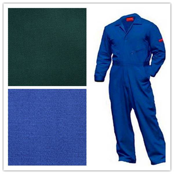 twill polyester/cotton workwear fabric dyed