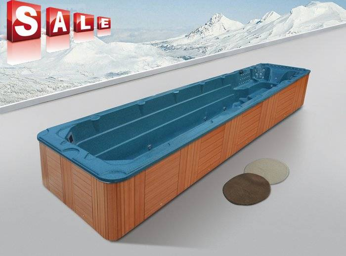 Monalisa outdoor endless swimming pool spa tub swim spa M-3326