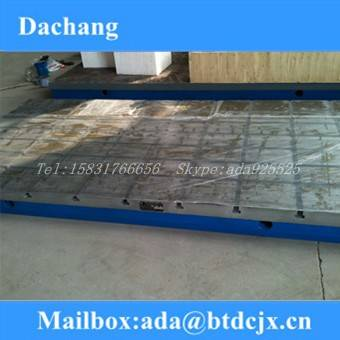 Cast iron T-slots surface plate / cast iron surface plate /cast iron welding plate