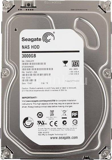 Seagate NAS HDD 3TB Desktop Internal Hard Drive Disk